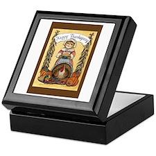 Thanksgiving Pilgrim, Female Keepsake Box