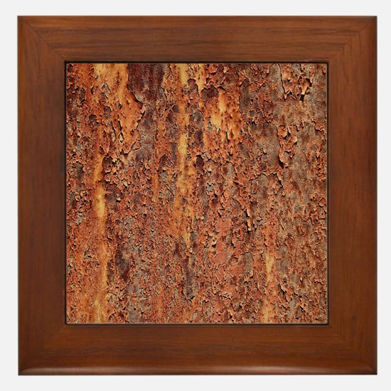 FLAKY RUSTING METAL Framed Tile