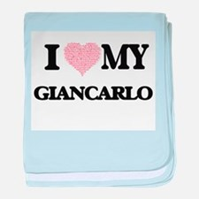 I Love my Giancarlo (Heart Made from baby blanket