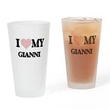 I Love my Gianni (Heart Made from L Drinking Glass