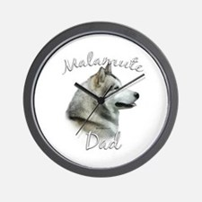 Malamute Dad2 Wall Clock