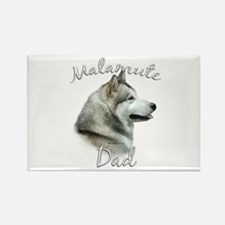 Malamute Dad2 Rectangle Magnet