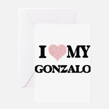 I Love my Gonzalo (Heart Made from Greeting Cards