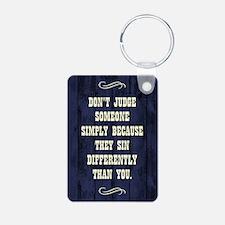 DON'T JUDGE... Keychains