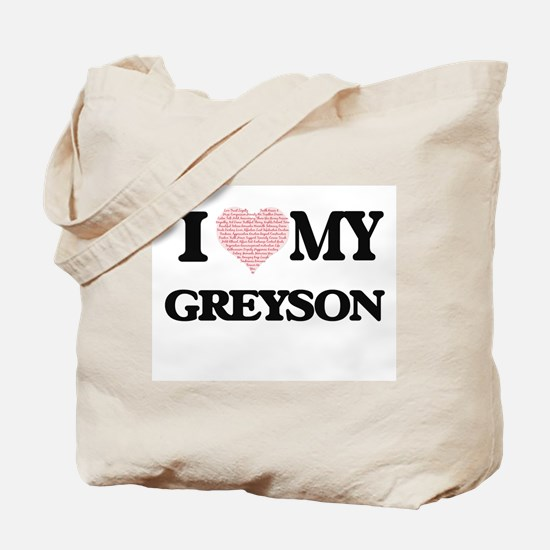 I Love my Greyson (Heart Made from Love m Tote Bag