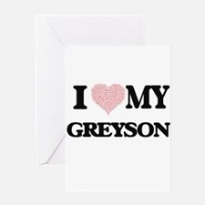 I Love my Greyson (Heart Made from Greeting Cards