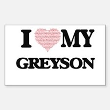 I Love my Greyson (Heart Made from Love my Decal