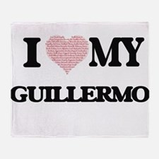 I Love my Guillermo (Heart Made from Throw Blanket