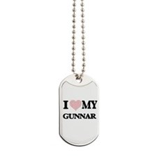 I Love my Gunnar (Heart Made from Love my Dog Tags