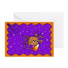 Candy Corn Spider Greeting Card