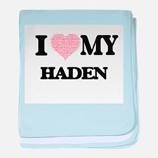 I Love my Haden (Heart Made from Love baby blanket