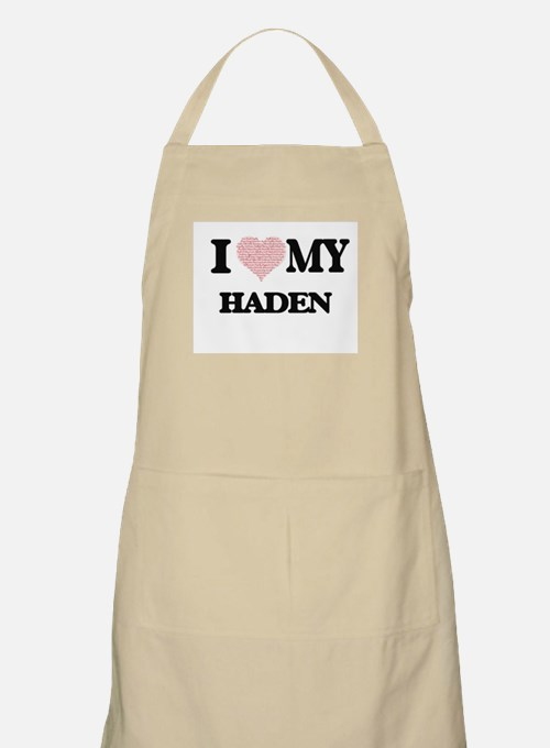 I Love my Haden (Heart Made from Love my wor Apron