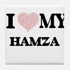 I Love my Hamza (Heart Made from Love Tile Coaster