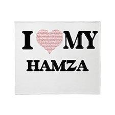 I Love my Hamza (Heart Made from Lov Throw Blanket