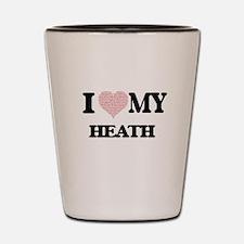 I Love my Heath (Heart Made from Love m Shot Glass