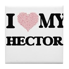 I Love my Hector (Heart Made from Lov Tile Coaster