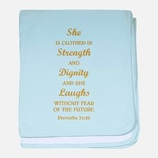 PROVERBS 31:25 baby blanket