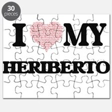 I Love my Heriberto (Heart Made from Love m Puzzle