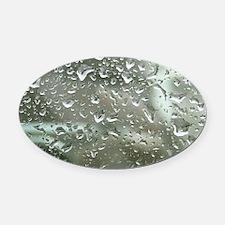 Rain Drops Oval Car Magnet
