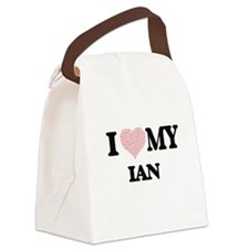 I Love my Ian (Heart Made from Lo Canvas Lunch Bag