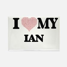 I Love my Ian (Heart Made from Love my wor Magnets