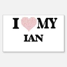 I Love my Ian (Heart Made from Love my wor Decal