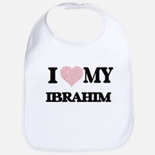 I Love my Ibrahim (Heart Made from Love my wor Bib