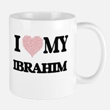 I Love my Ibrahim (Heart Made from Love my wo Mugs