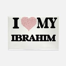 I Love my Ibrahim (Heart Made from Love my Magnets