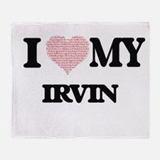 I Love my Irvin (Heart Made from Lov Throw Blanket