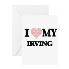 I Love my Irving (Heart Made from L Greeting Cards