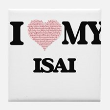 I Love my Isai (Heart Made from Love Tile Coaster
