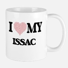 I Love my Issac (Heart Made from Love my word Mugs