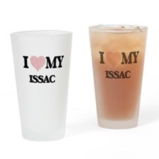 I Love my Issac (Heart Made from Lo Drinking Glass