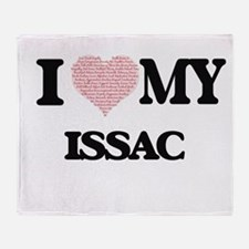 I Love my Issac (Heart Made from Lov Throw Blanket