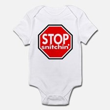 Stop Snitching Snitchin' Infant Bodysuit