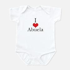 I Love (Heart) Abuela Infant Bodysuit