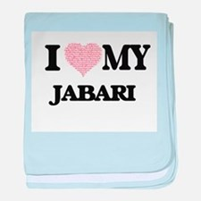 I Love my Jabari (Heart Made from Lov baby blanket