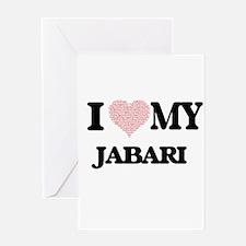 I Love my Jabari (Heart Made from L Greeting Cards