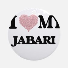 I Love my Jabari (Heart Made from L Round Ornament
