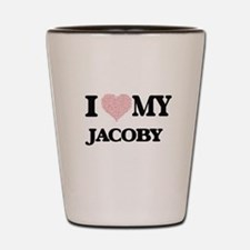 I Love my Jacoby (Heart Made from Love Shot Glass