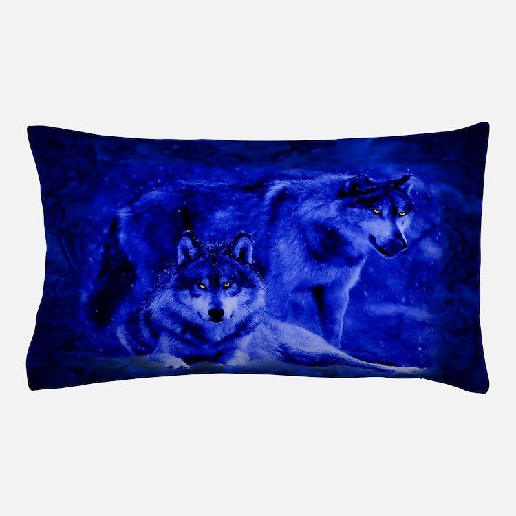 wolf pillow case bedroom decor