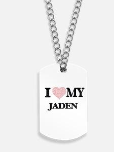 I Love my Jaden (Heart Made from Love my Dog Tags