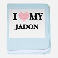 I Love my Jadon (Heart Made from Love baby blanket