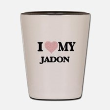 I Love my Jadon (Heart Made from Love m Shot Glass