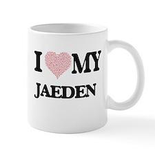 I Love my Jaeden (Heart Made from Love my wor Mugs