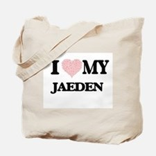 I Love my Jaeden (Heart Made from Love my Tote Bag