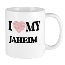 I Love my Jaheim (Heart Made from Love my wor Mugs