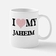 I Love my Jaheim (Heart Made from Love my wor Mugs