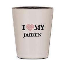 I Love my Jaiden (Heart Made from Love Shot Glass